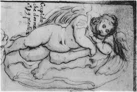Schizzo del Cupido dormiente (1496) di Michelangelo Buonarroti