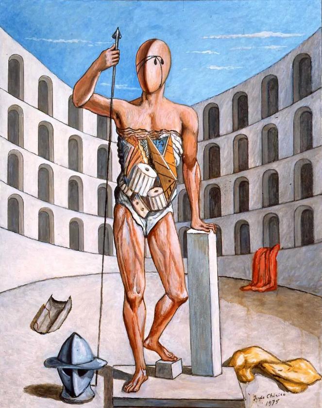 Giorgio de Chirico, Sole sul cavalletto, 1972
