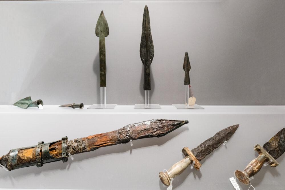 Oggetti in mostra al Museo Archeologico Nazionale di Napoli durante la mostra I GLADIATORI. ph. Mario Laporta/KONTROLAB