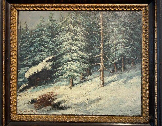 Gustave Courbet, Foret Sous la Neige(1869)