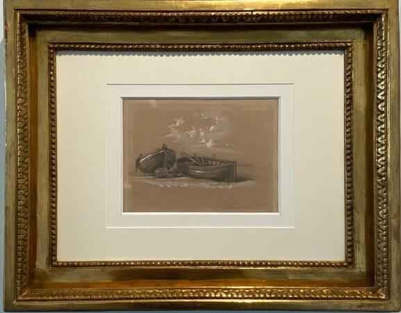 Claude Monet, Deux canots echoues(1857)