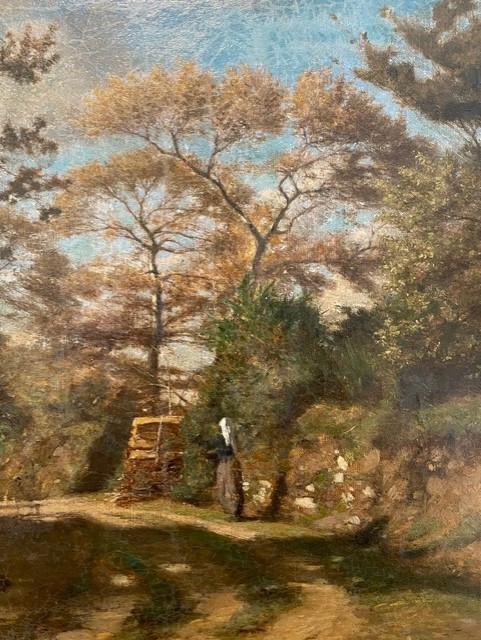 Dettaglio di Vidal, Paysage des environs de Nemours(1880)
