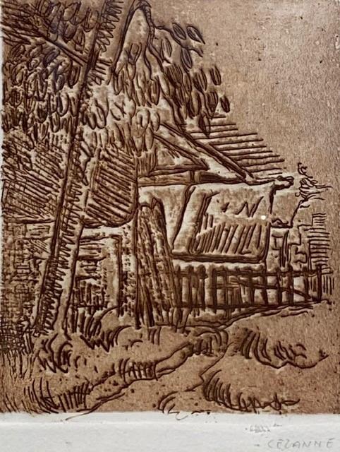 Paul Cézanne, La maison du docteur Gachet, Paysage a Auvers(1873)