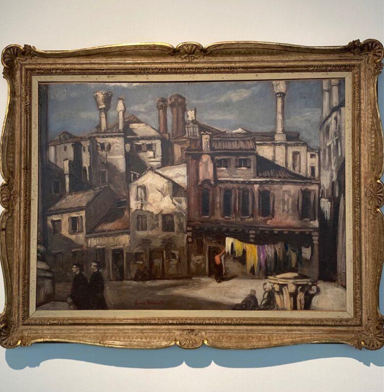 Emile Bernard, Maison et petite place a Venise(1926)