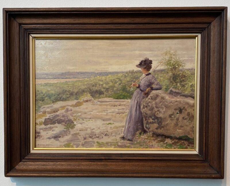 Firmin-Girard, Madame Girard en foret de Fontainebleau(1890 circa)