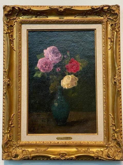 Victor Vignon, Bouquet de roses dans un vase