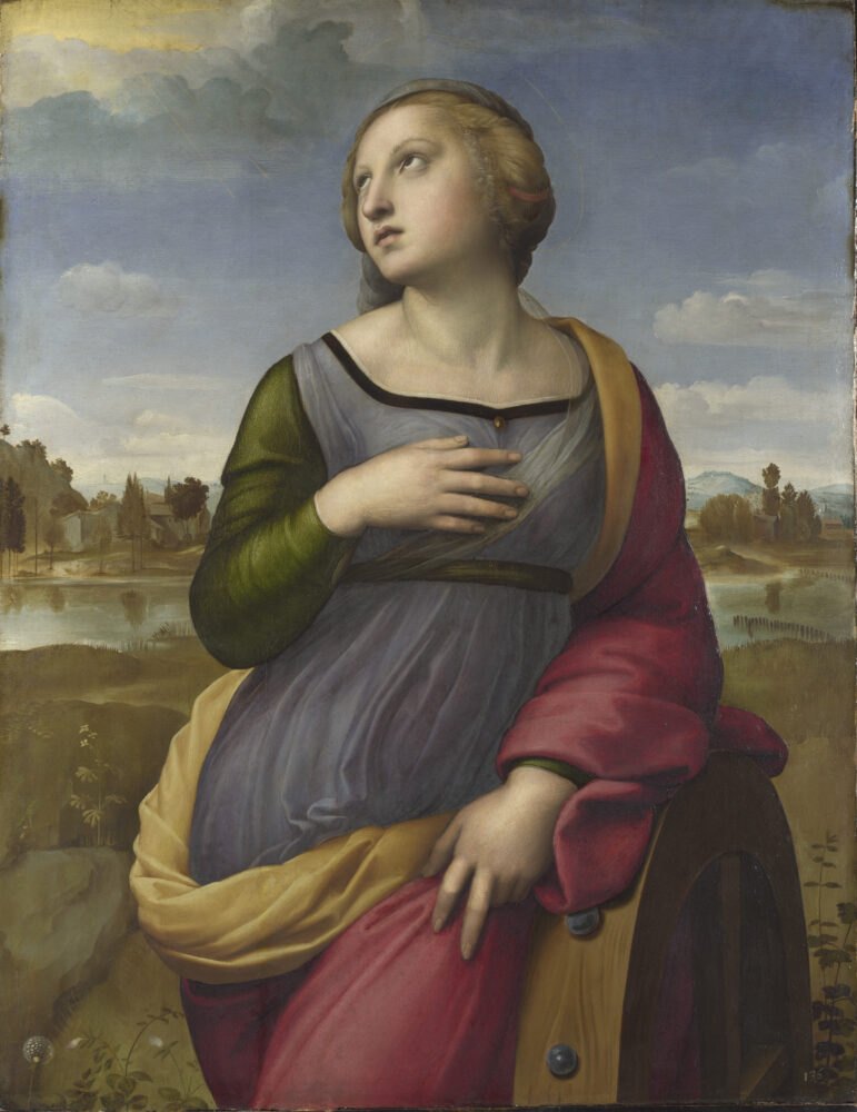 Raphael, Saint Catherine of Alexandria, about 1507 © The National Gallery, London