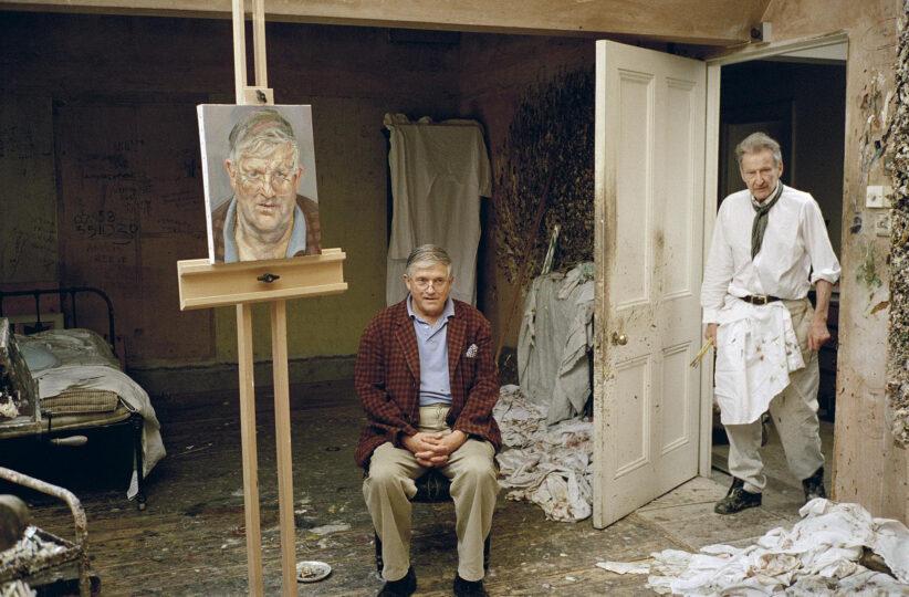 Lucian Freud and David Hockney photographed by David Dawson in 2002 Image/Artwork: © David Dawson / Bridgeman Images