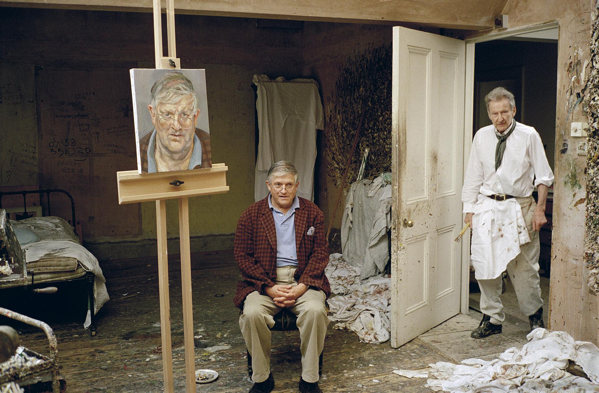 Freud dipinge, Hockney convince. Lo storico ritratto venduto caro da Sotheby's