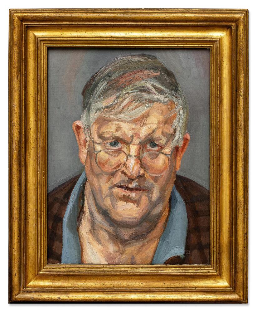 Lucian Freud David Hockney oil on canvas, 2002 Estimate £8,000,000 - 12,000,000