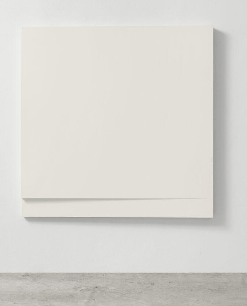 SANDRO DE ALEXANDRIS, TS/LL P01, 1965, poliestere su tavola, 120x120x8 cm