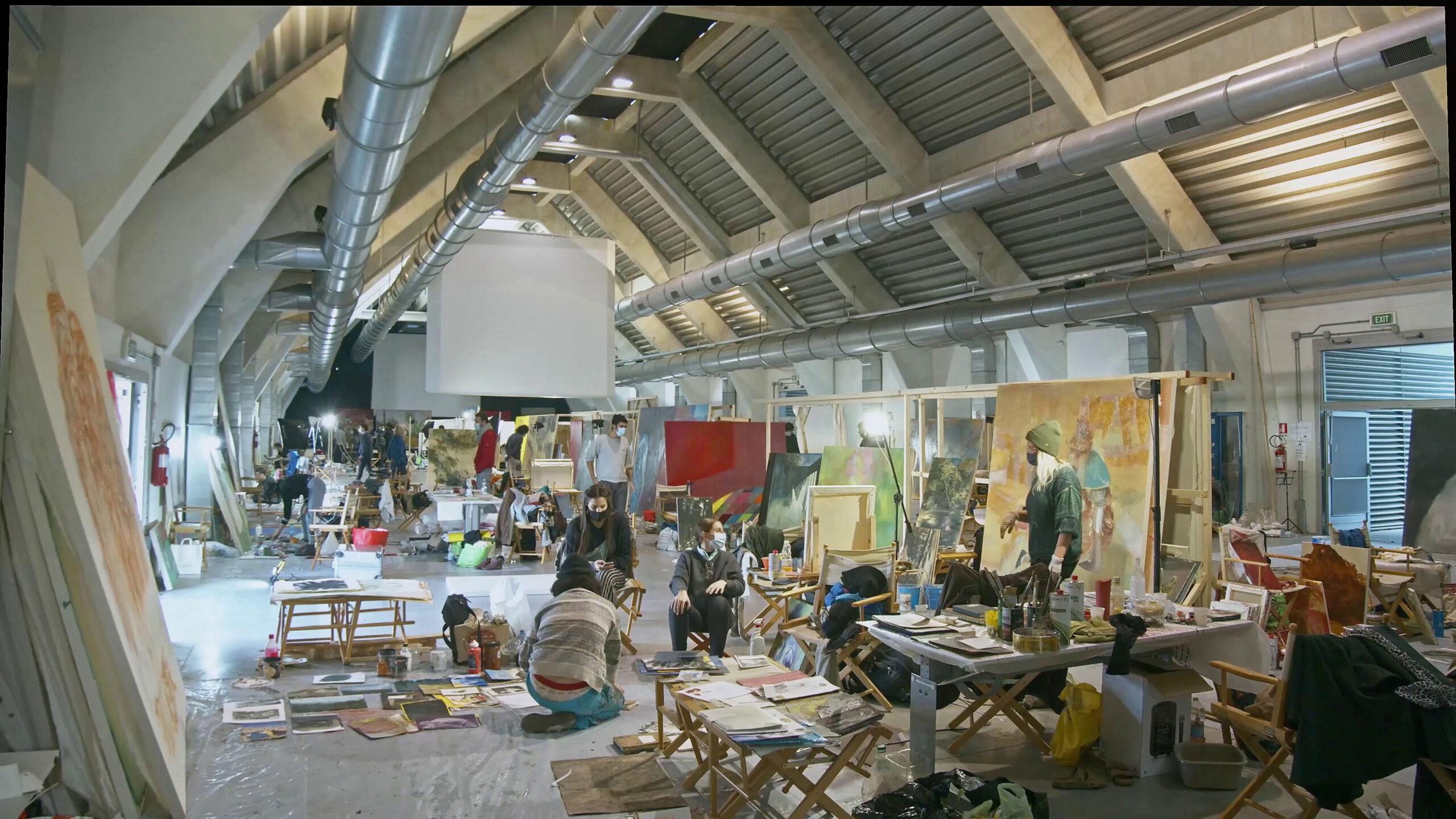 Un mega workshop per giovani promesse della pittura. 90 artisti accolti a Venezia Marghera