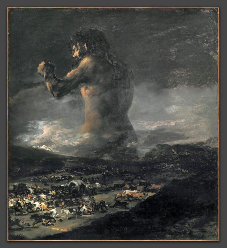 Francisco Goya, 'The Colossus (ca. 1818–25). Courtesy of Museo Nacional del Prado, Madrid.