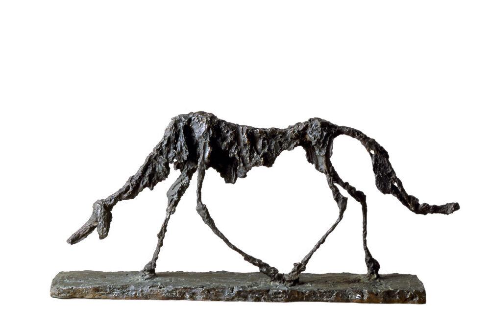 Alberto Giacometti, Le Chien, 1951. Archives Fondation Maeght ©-Succession Giacometti, Fondation Giacometti Paris et ADAGP Paris, 2021