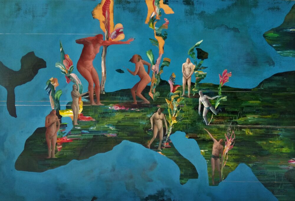 Chiara Sorgato, Il valore, olio su tela 120x80 cm, 2020