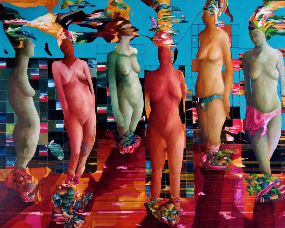 Chiara Sorgato_Capo-corpo-conseguenza, olio su tela 135x165 cm, 2020