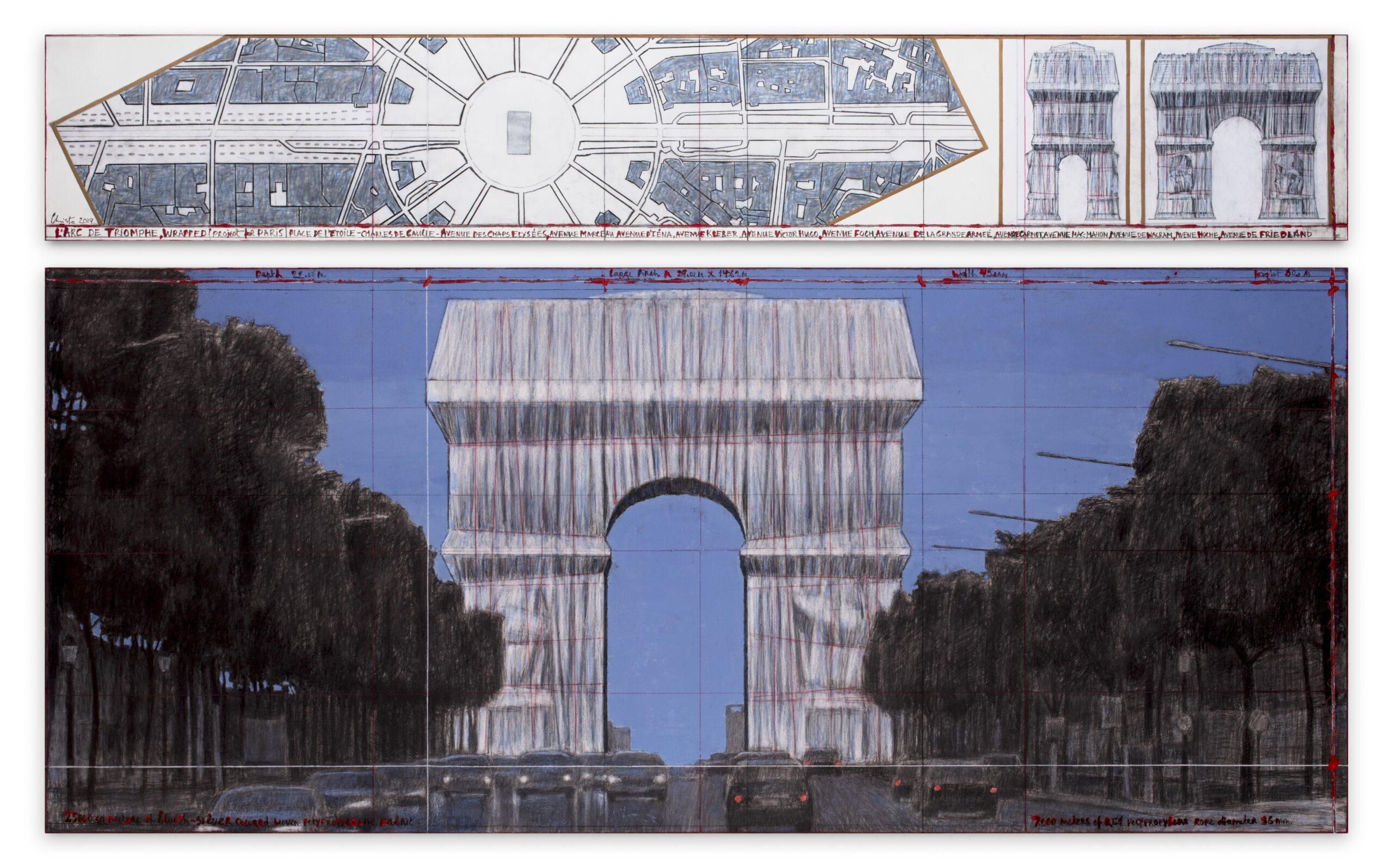 Christo, l'ultimo impacchettamento. Sotheby's presenta una mostra dedicata all'Arco di Trionfo