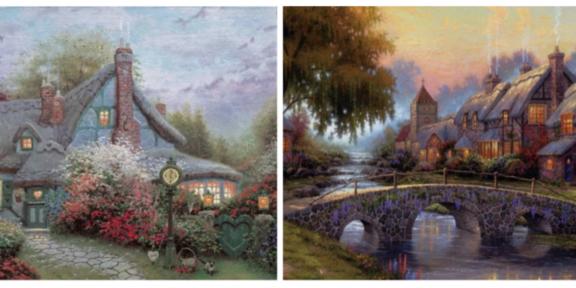Due dipinti di Thomas Kinkade