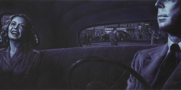 Eric White 1938 Dodge Brothers Business Coupé [D-8] (Double Indemnity) 2011 olio su tela 51 x 127 cm Courtesy Antonio Colombo Arte Contemporanea, Milano © Eric White