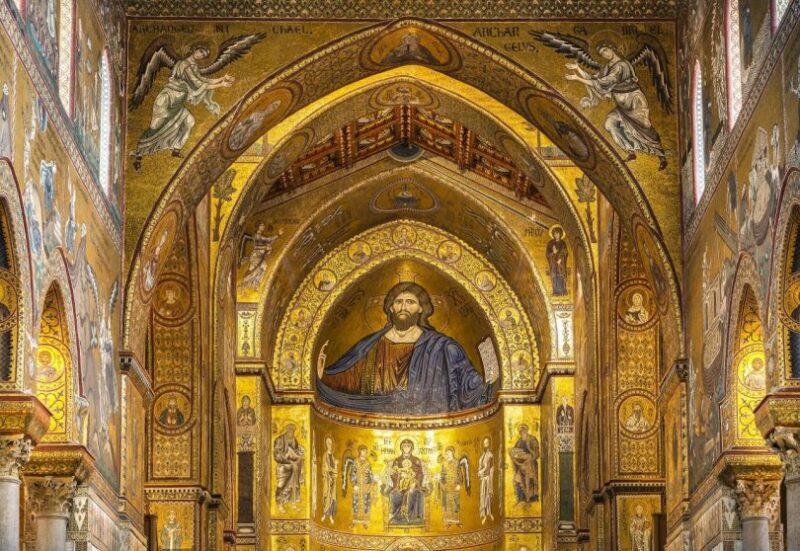 Il Cristo Pantocratore all'interno del Duomo Cattedrale di Monreale