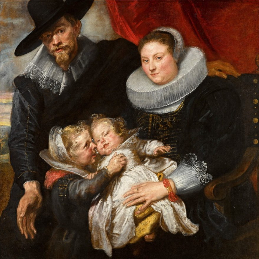 Sir Anthony van Dyck, Family portrait of the painter Cornelis de Vos and his wife Suzanna Cock and their two eldest children, Magdalena and Jan-Baptist
