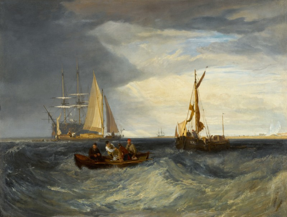 Joseph Mallord William Turner, Purfleet and the Essex Shore as seen from Long Reach