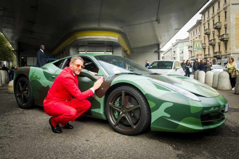 Lapo Elkann a Garage Italia Customs