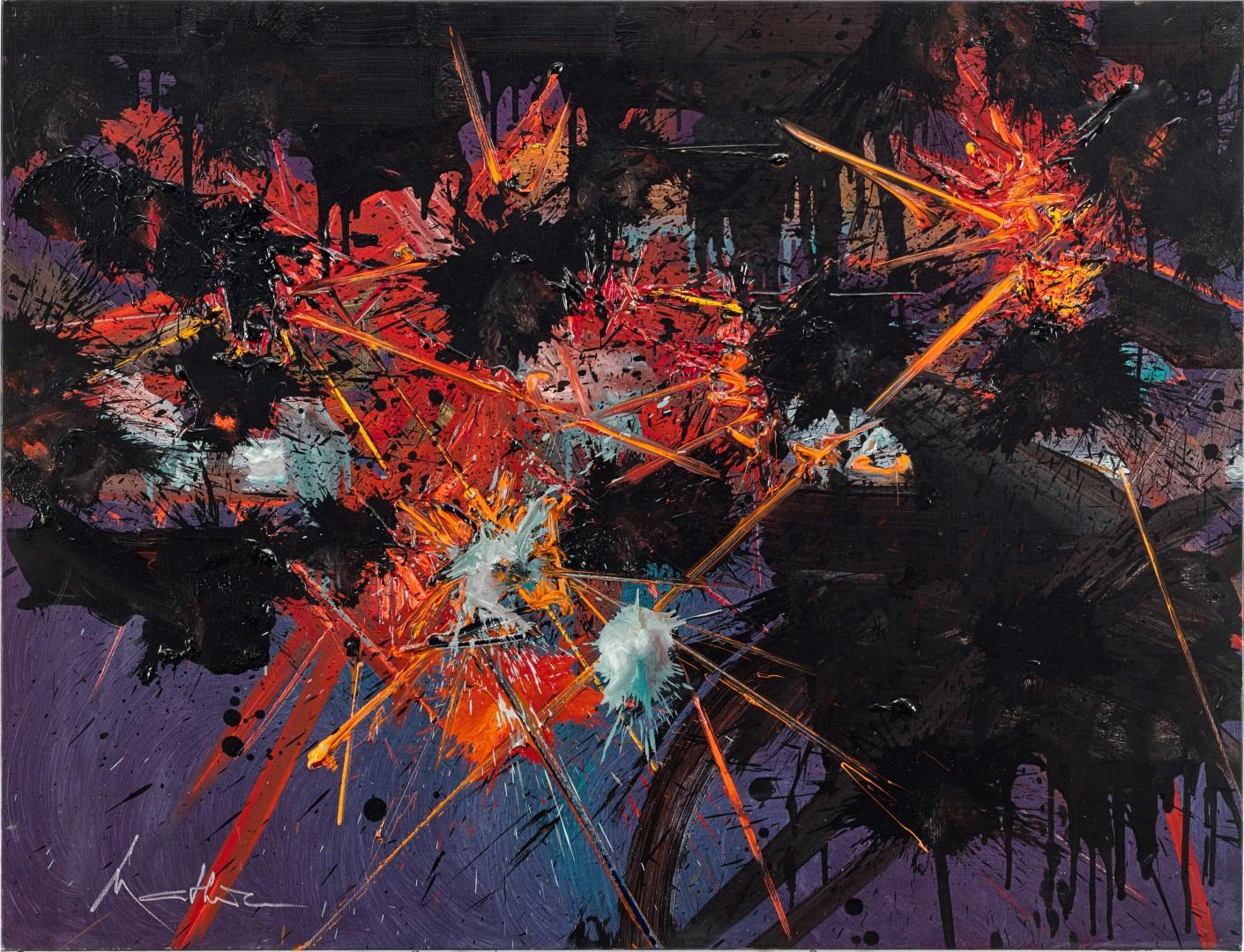 Sotheby's Milano si gode un Mathieu pirotecnico. I risultati di Contemporary Curated