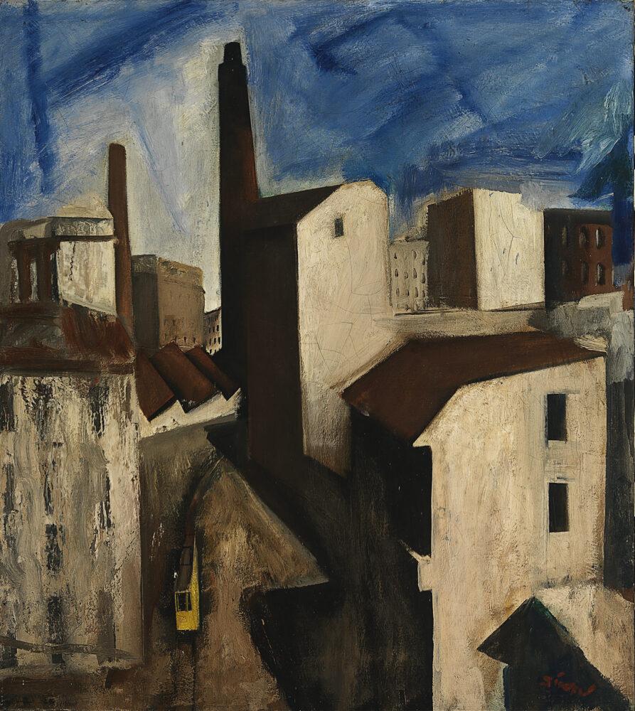 Mario Sironi, Paesaggio urbano 1925-28 - © by SIAE 2021