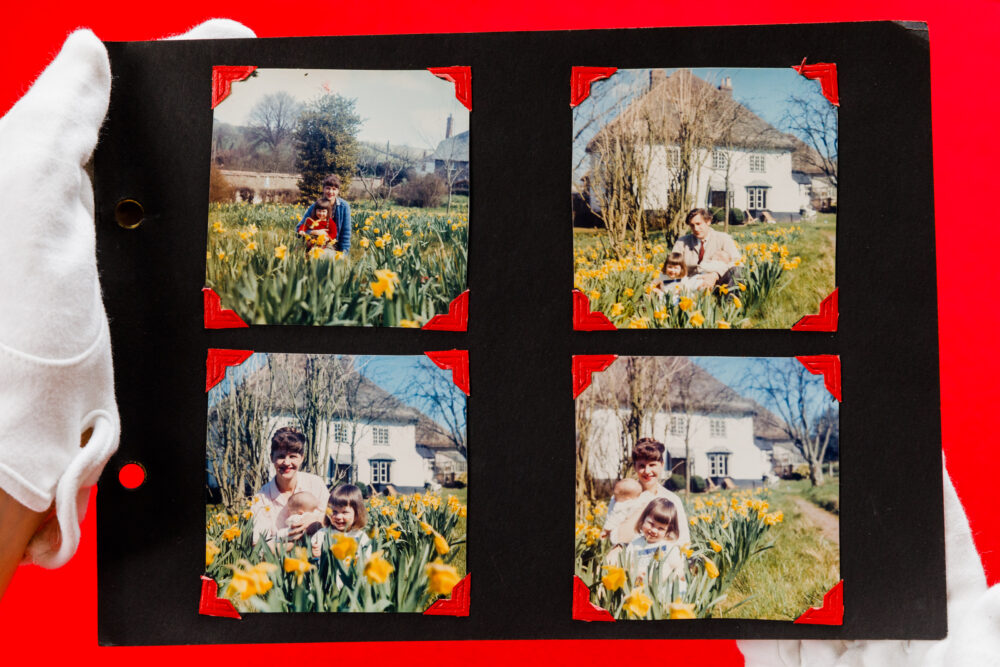 Pages from 'The Hughes family Album', the family in Devon. Estimate; £30,000 - £50,000