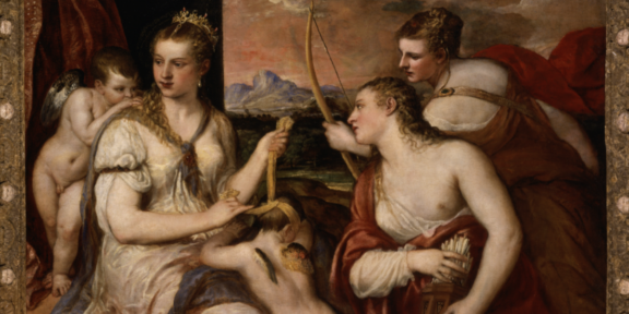 Tiziano Venere benda Amore 1560 - 1565? olio su tela, 118x185 cm Roma, Galleria Borghes