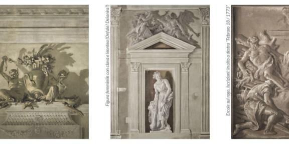 Tre dei sette affreschi di Tiepolo