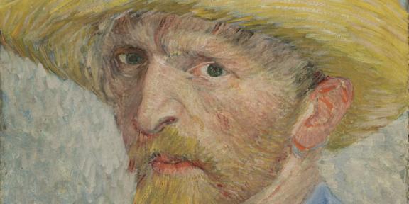 Vincent van Gogh, Self-Portrait with Straw Hat, 1887