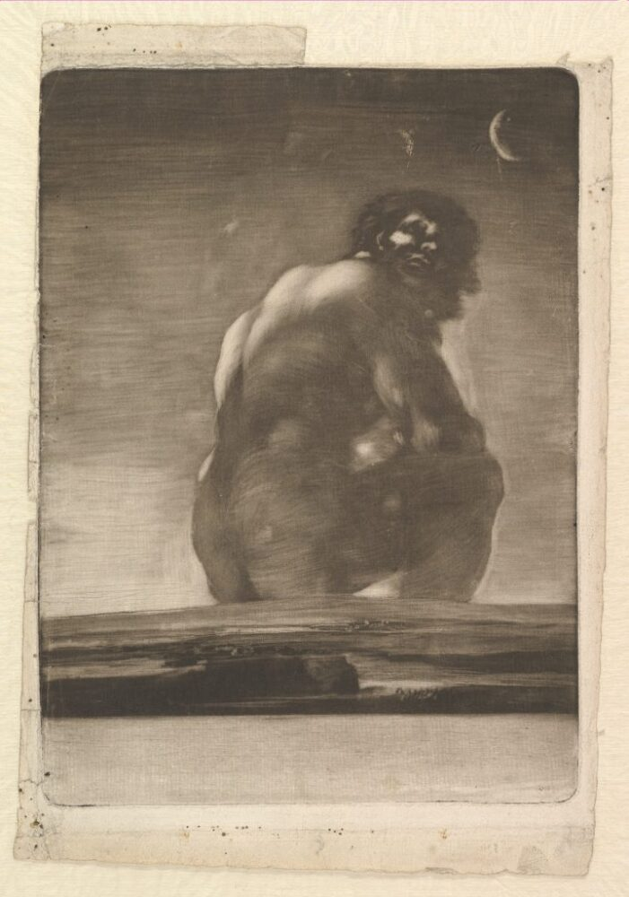 Francisco Goya, Seated Giant (ca. 1814–18). Courtesy of the Metropolitan Museum of Art.
