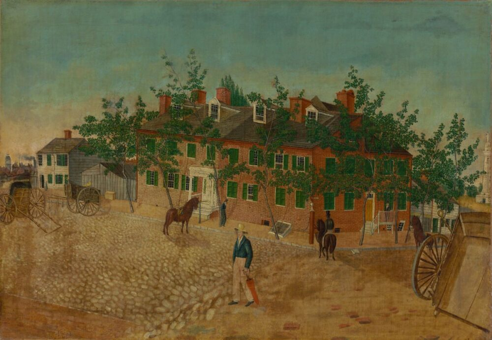 Attributed to Thomas Ruckle, House of Frederick Crey (1830-1835) Courtesy Baltimore Museum of Art