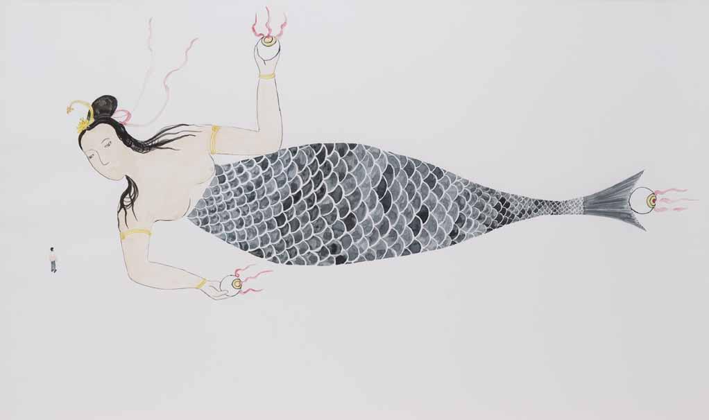 Dal Giappone al Principato. Una sirena di 165 metri in mostra a Monaco