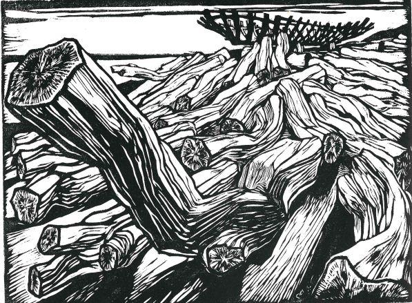 La legnara, 1947. Xilografia