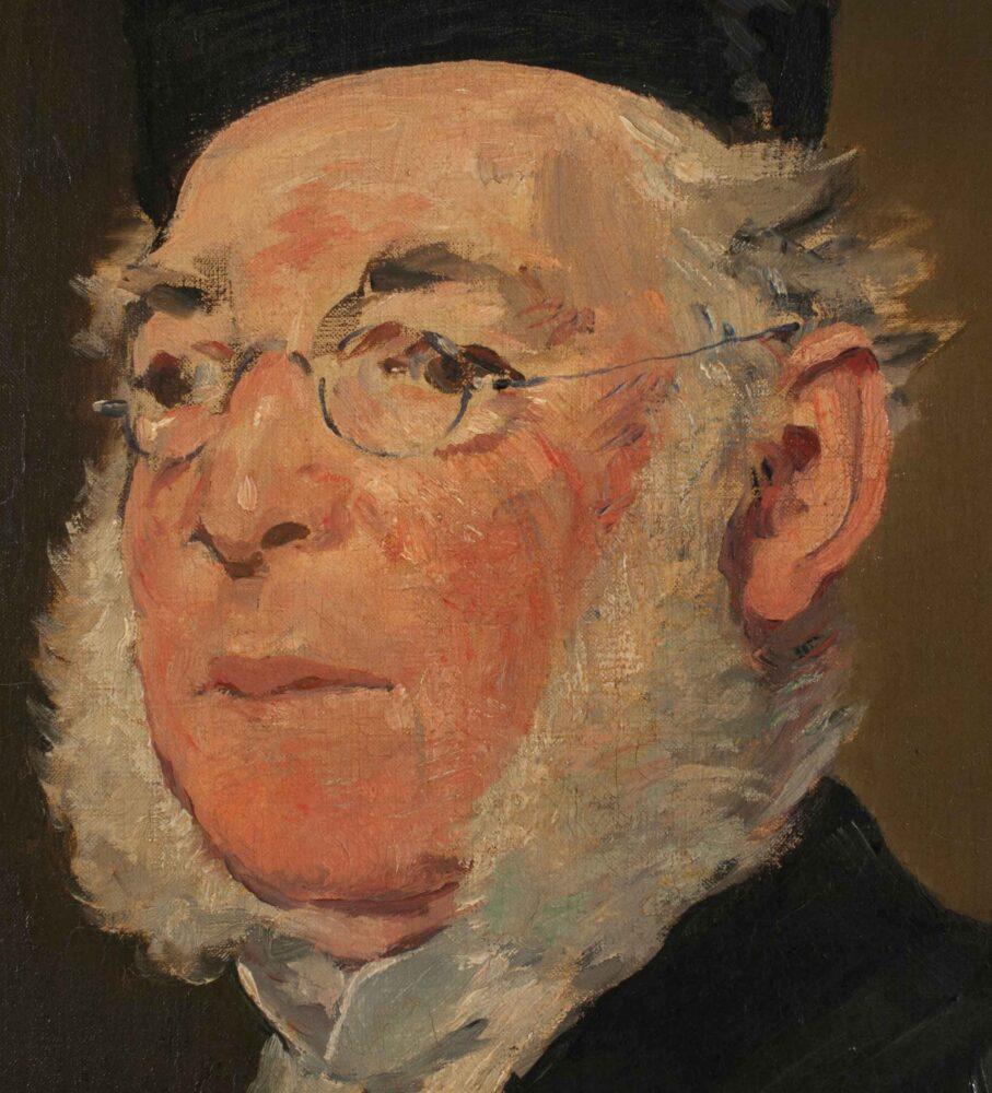 Édouard Manet, Dettaglio del ritratto di Jules Dejouy © Amgueddfa Cymru - National Museum Wales