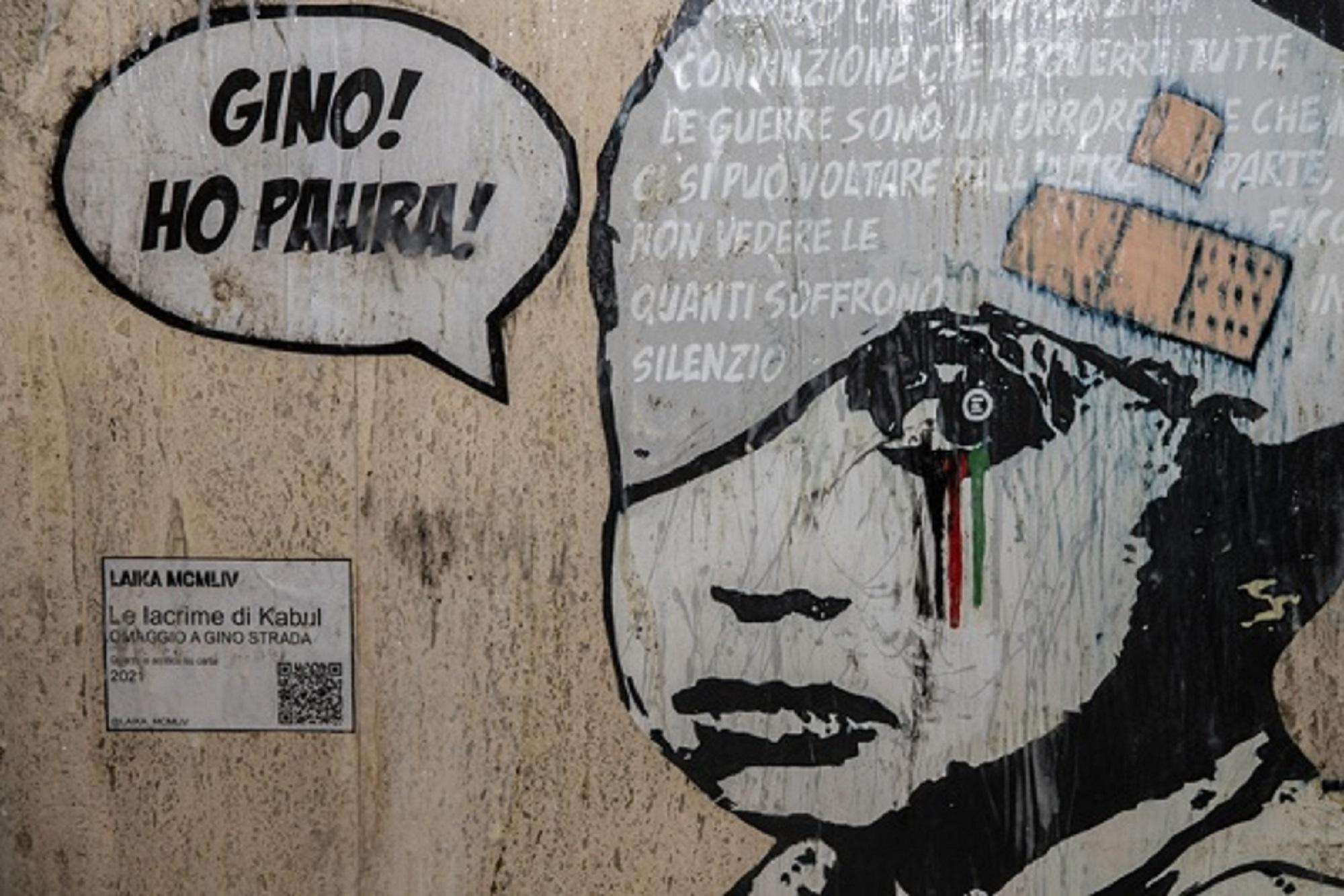 Lacrime dall'Afghanistan. La Street Art omaggia Gino Strada