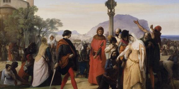 Francesco Hayez, I Vespri siciliani © Galleria Nazionale d'arte Moderna e Contemporanea, Roma