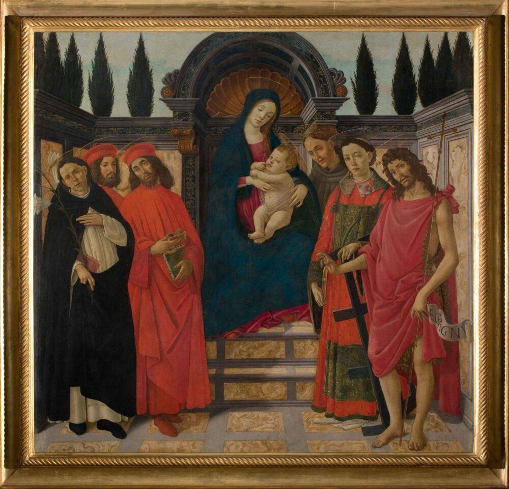 Pala del Trebbio Botticelli, Galleria dell'Accademia, Firenze, 1890