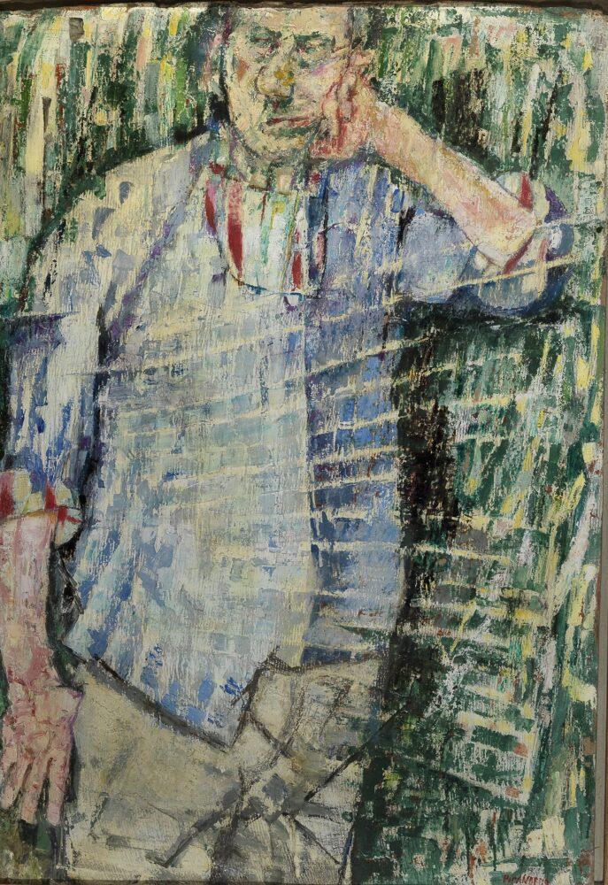 Fausto Pirandello, Atmosfera e autoritratto, 1956. Collezione privata