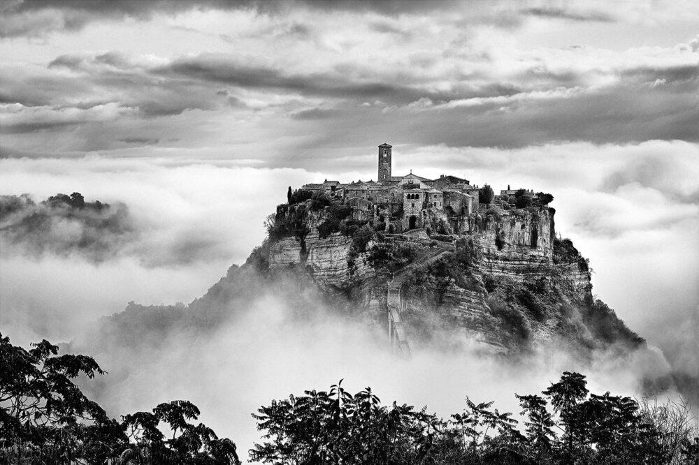 Civita nelle Nuvole, 2016 (Civita in the Clouds) Archival pigment print 27.56 x 39.37 in 60 x 90 cm Courtesy of artist