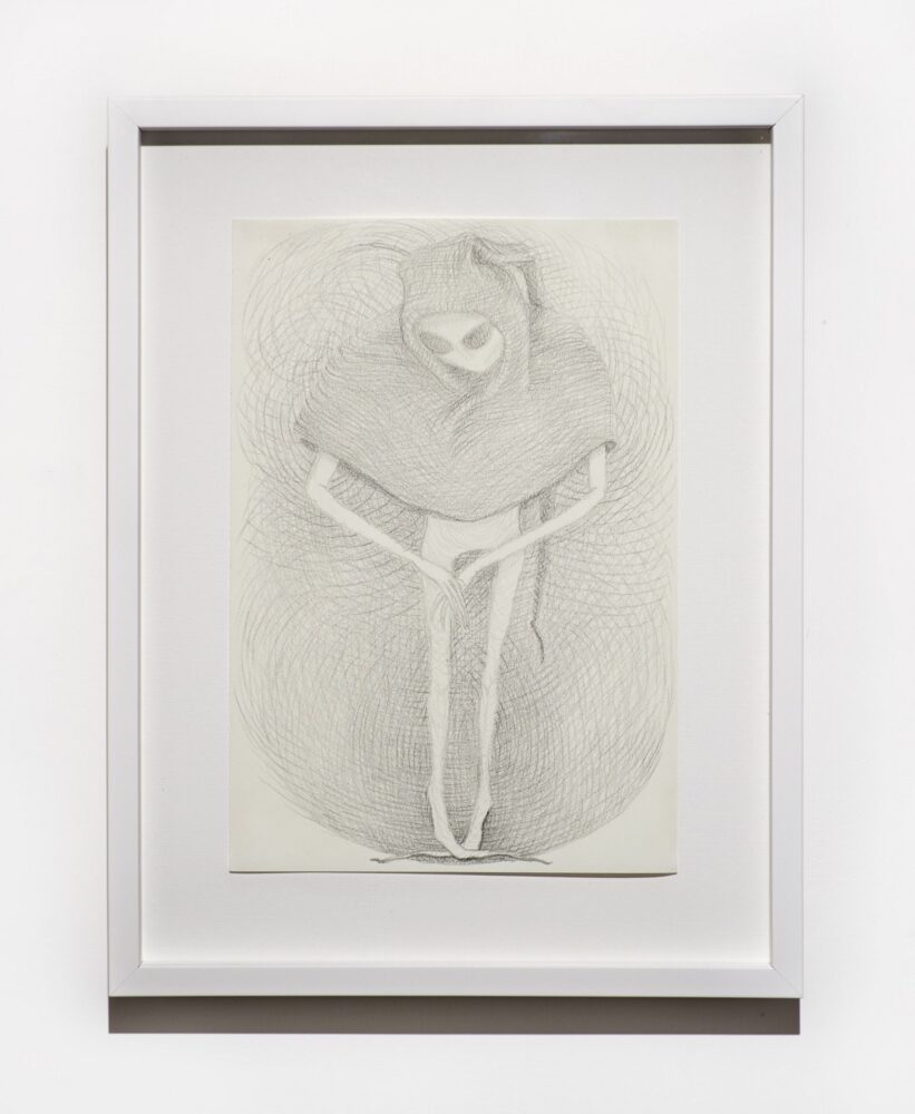 Beth Collar, Old and cray, 2020, lithographic crayon on paper, 29,7 x 20,3 cm