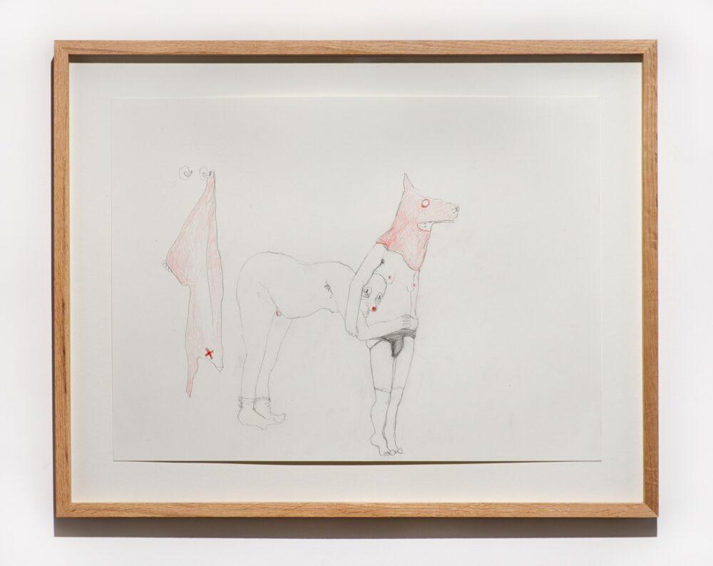 Jesse Darling, Pantomime Horse, 2021, pencil on paper, 35,9 x 48 cm