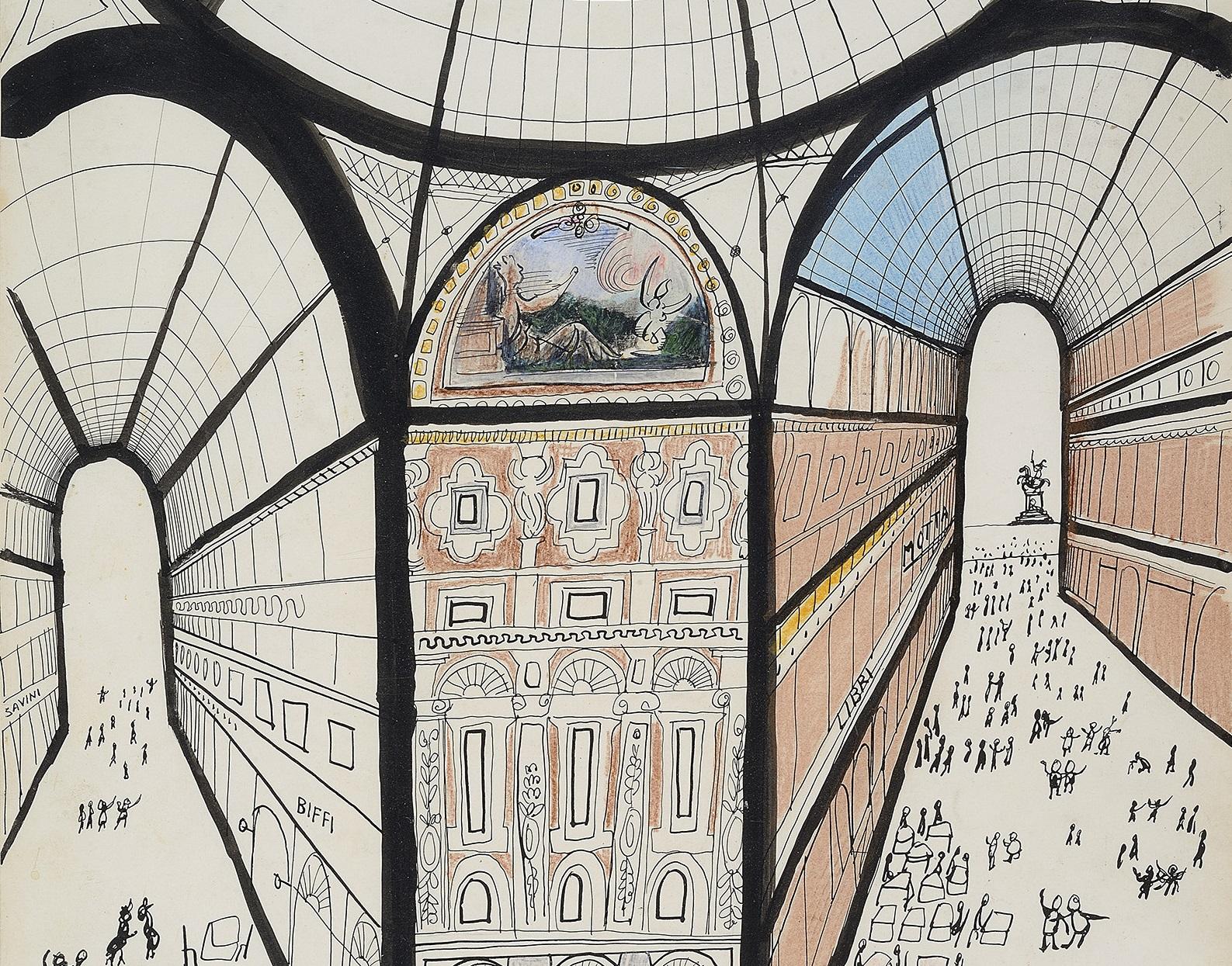 Milano secondo Saul Steinberg: 350 opere per la mostra in Triennale