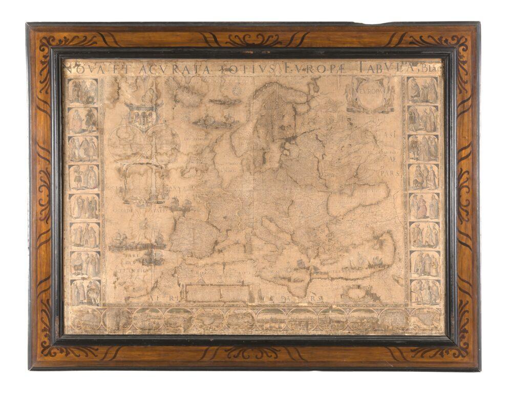 "Lotto 186 Willem e Joan Blaeu, ""Coppia di carte geografiche: Nova et Exacta Asiae Geographica Descriptio; Nova Acvrata Totivs Evropae Tabvla"". Amsterdam: Blaeu, 1608-1624? Venduto: € 21.250"