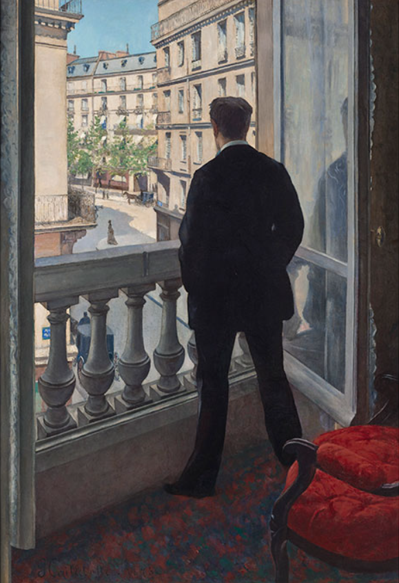 GUSTAVE CAILLEBOTTE (1848-1894) Jeune homme à sa fenêtre, oil on canvas 45⅝ x 31⅞ in. (116 x 81 cm.) Painted in 1876. Estimate on request (in excess of $50 million)