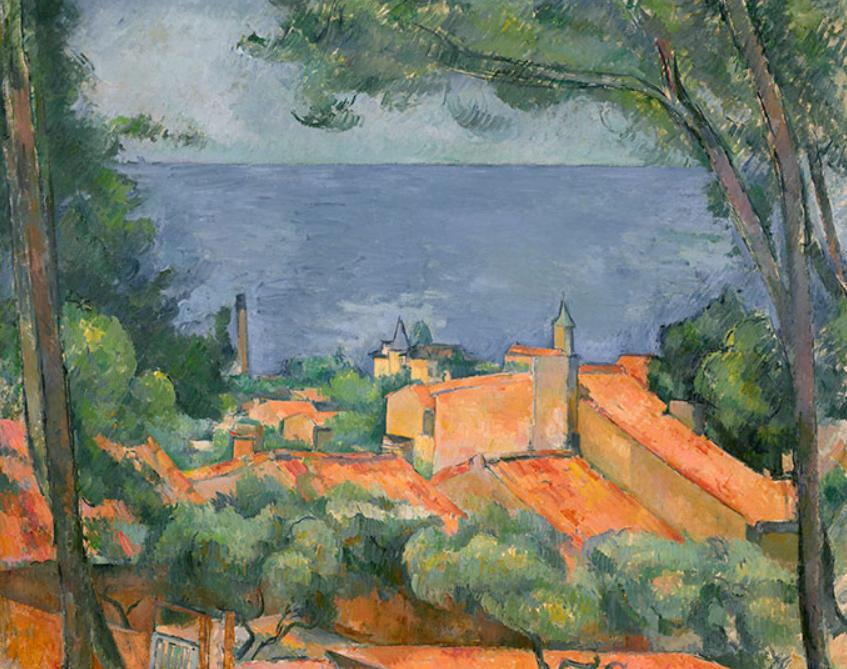 PAUL CÉZANNE (1839-1906) L'Estaque aux toits rouges oil on canvas, 25.3/4 x 32 in. (65.5 x 81.4 cm.) Painted circa 1883-1885. $35,000,000-55,000,000