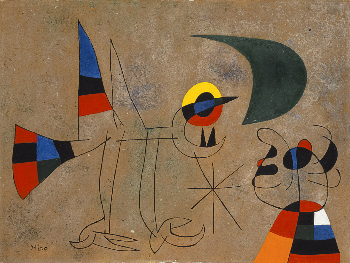 Un universo onirico saturo di poesia: la pittura di Joan Mirò alla Magnani-Rocca